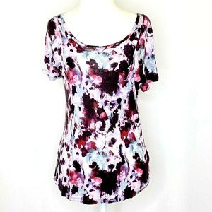 Simply Vera Wang Petite M Short Sleeved Knit Top